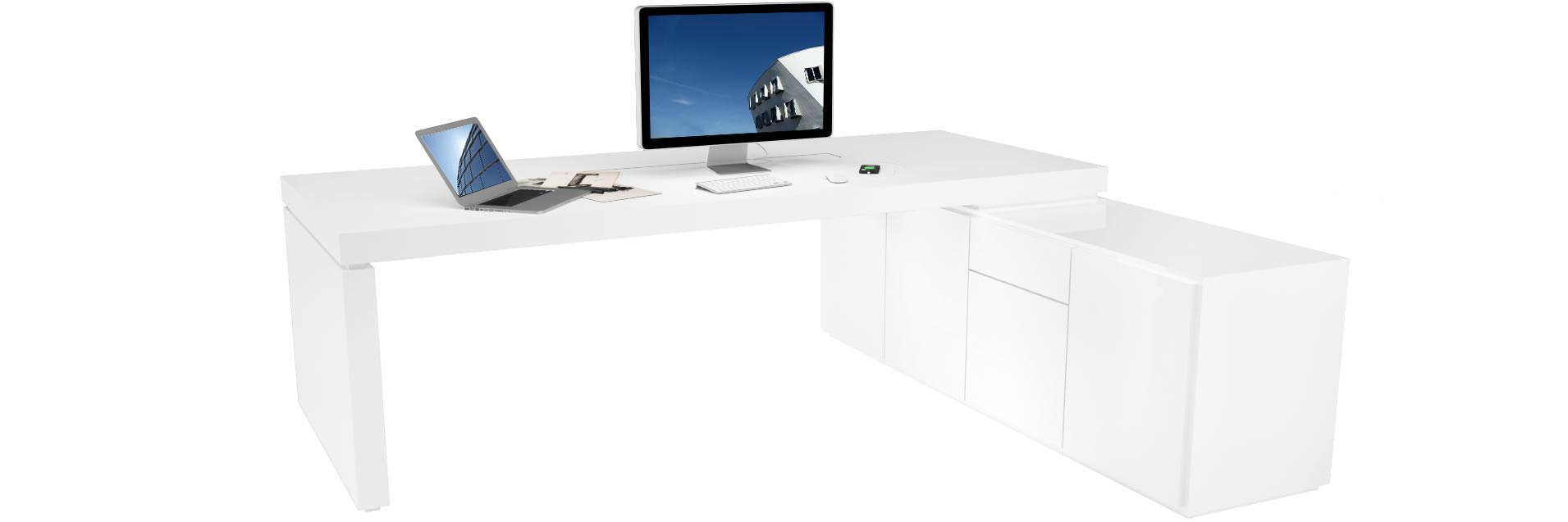 Chefzimmer schreibtisch praefectus vergleichen for Schreibtisch druckerfach