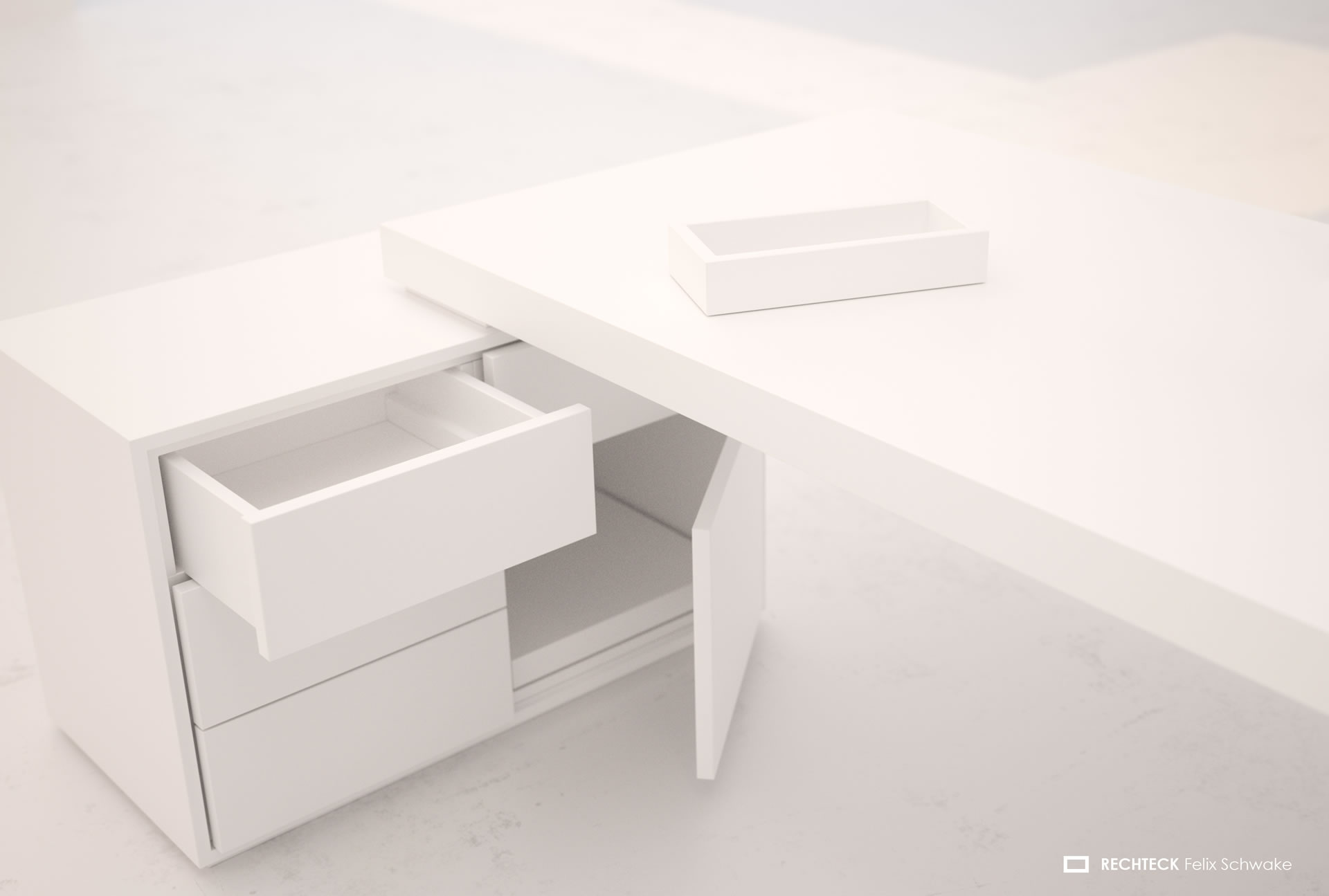 Chef schreibtisch praefectus wei hochglanz modern for Schreibtisch 1m
