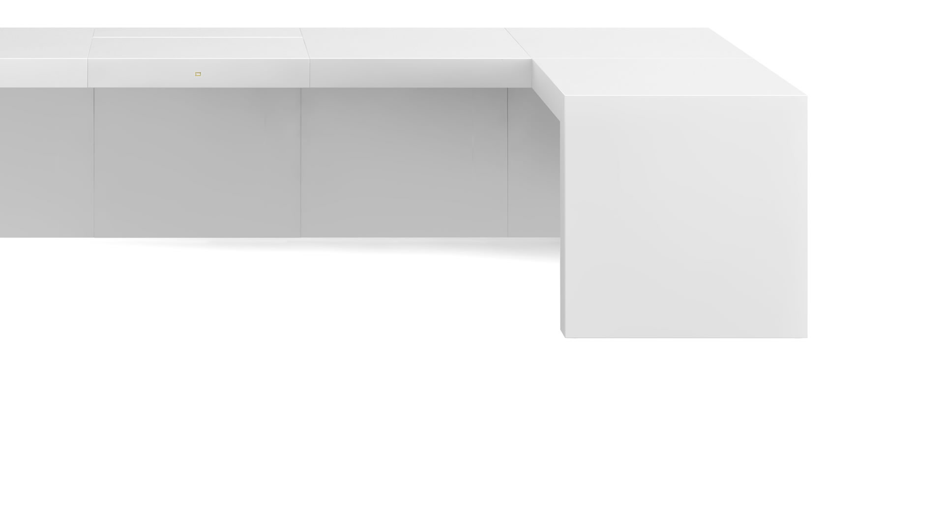 Eckschreibtisch weiß hochglanz  ECK-SCHREIBTISCH OPARARIUS – puristischer Design-Schreibtisch von ...