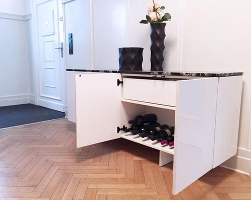 sideboard modern weiss lack hochglanz rechteck felix schwake. Black Bedroom Furniture Sets. Home Design Ideas