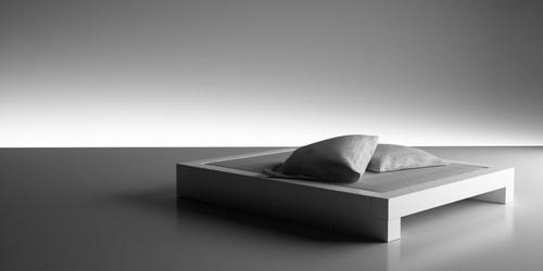 bett somnium minimalistisches design bett von rechteck. Black Bedroom Furniture Sets. Home Design Ideas