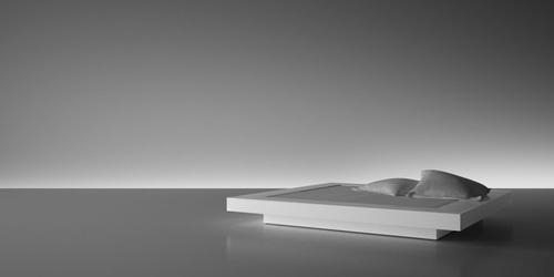 Bett weiß modern  Bett VISUM vergleichen ▭ weiß Design-Bett von RECHTECK