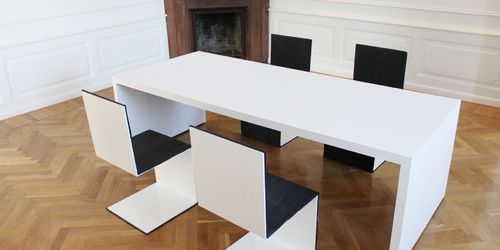 Möbel Minimalismus ▭ moderne weiße Hochglanz Design-Möbel von RECHTECK®