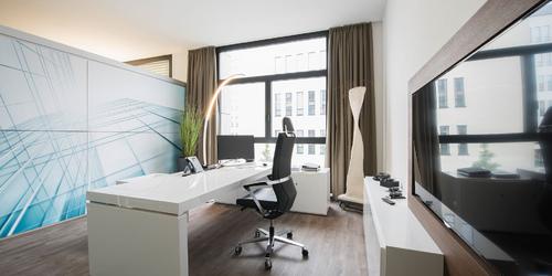chef schreibtisch praefectus wei hochglanz modern design chef schreibtisch von rechteck. Black Bedroom Furniture Sets. Home Design Ideas
