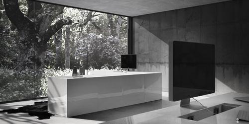 eck schreibtisch opararius puristischer design schreibtisch von rechteck. Black Bedroom Furniture Sets. Home Design Ideas
