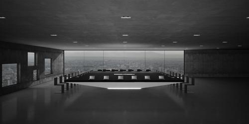 Konferenztisch monolith bestellen futuristischer design for Kleiner konferenztisch