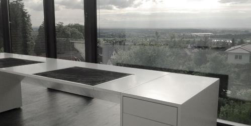 Eckschreibtisch weiß design  Möbel Minimalismus ▭ moderne weiße Hochglanz Design-Möbel von ...