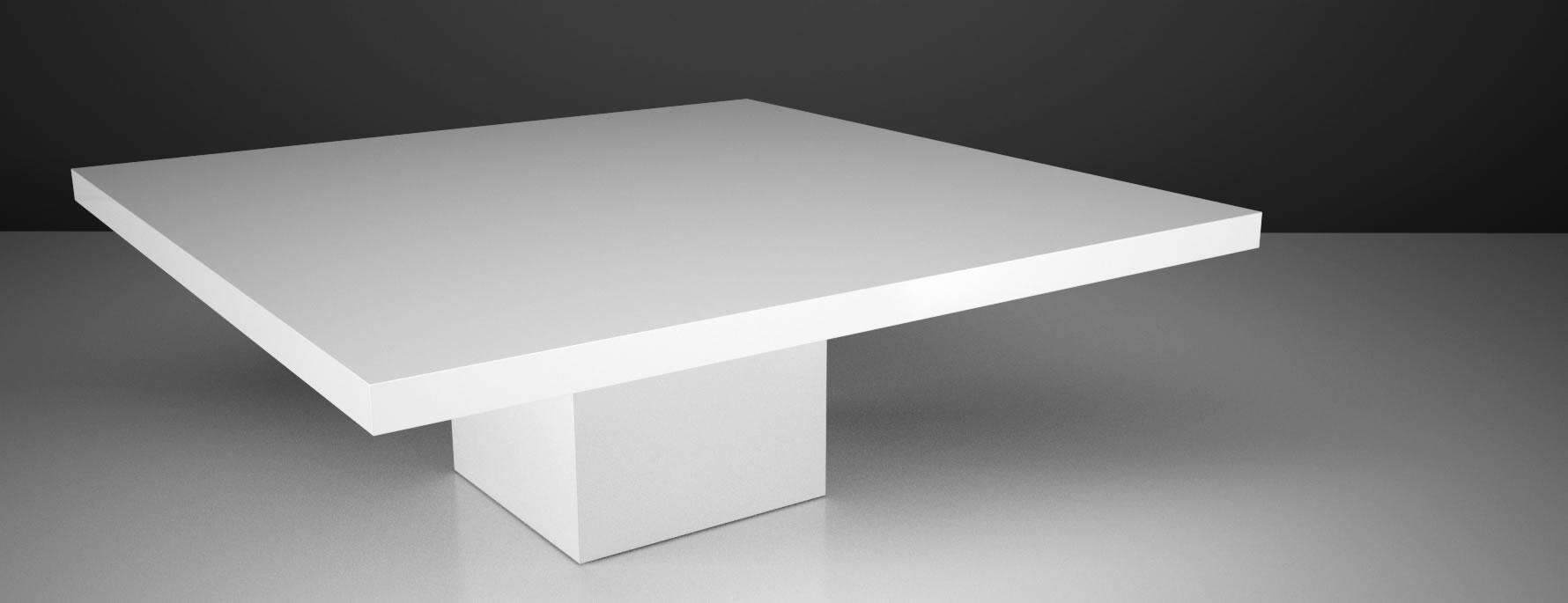 Tisch festum exklusiver design tisch von rechteck for Weisser esszimmertisch