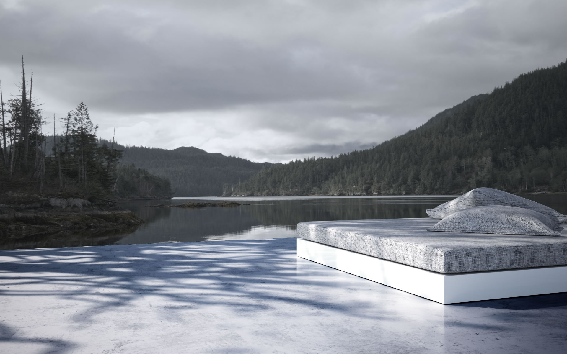 Bett SILENTIUM bestellen 160x200 Design-Bett von RECHTECK