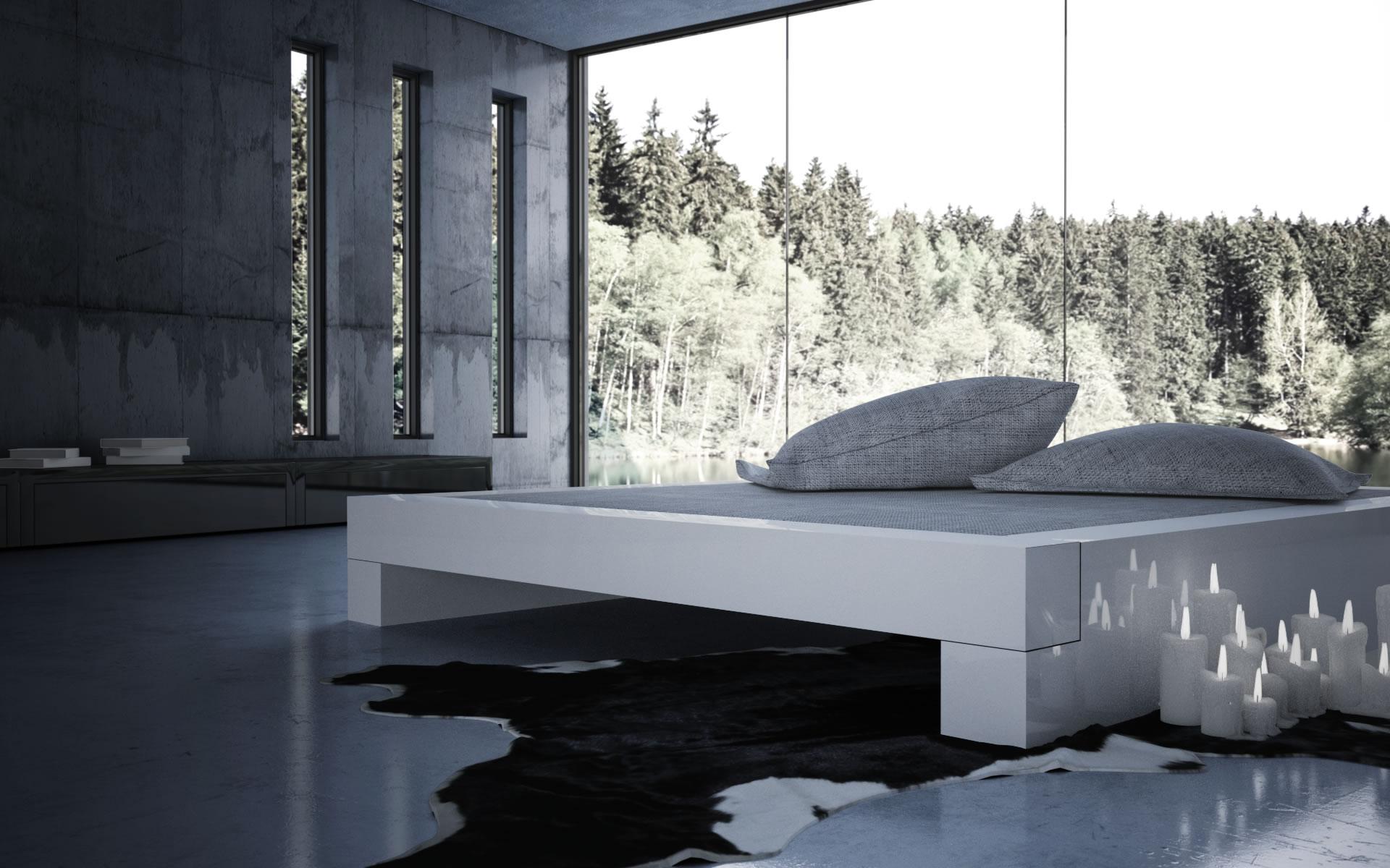 BETT SOMNIUM – Minimalistisches Design-Bett von RECHTECK