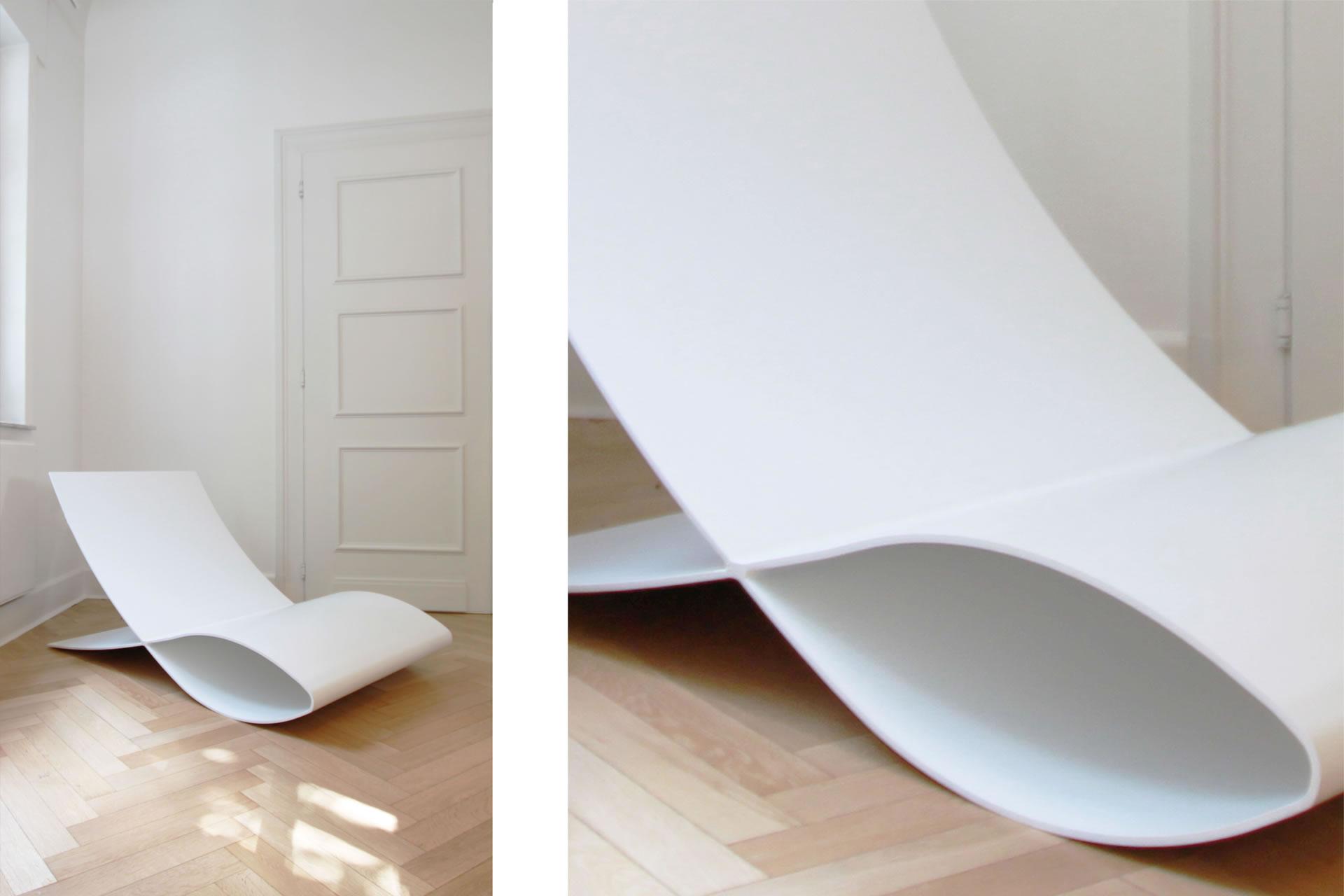 Weiße Büromöbel – Hochglanz weiße Büromöbel von RECHTECK