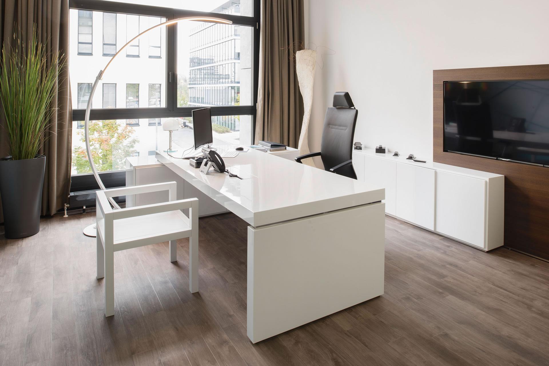Büromöbel weiss  Büromöbel in Hochglanz weiß ▭ RECHTECK Design-Möbel
