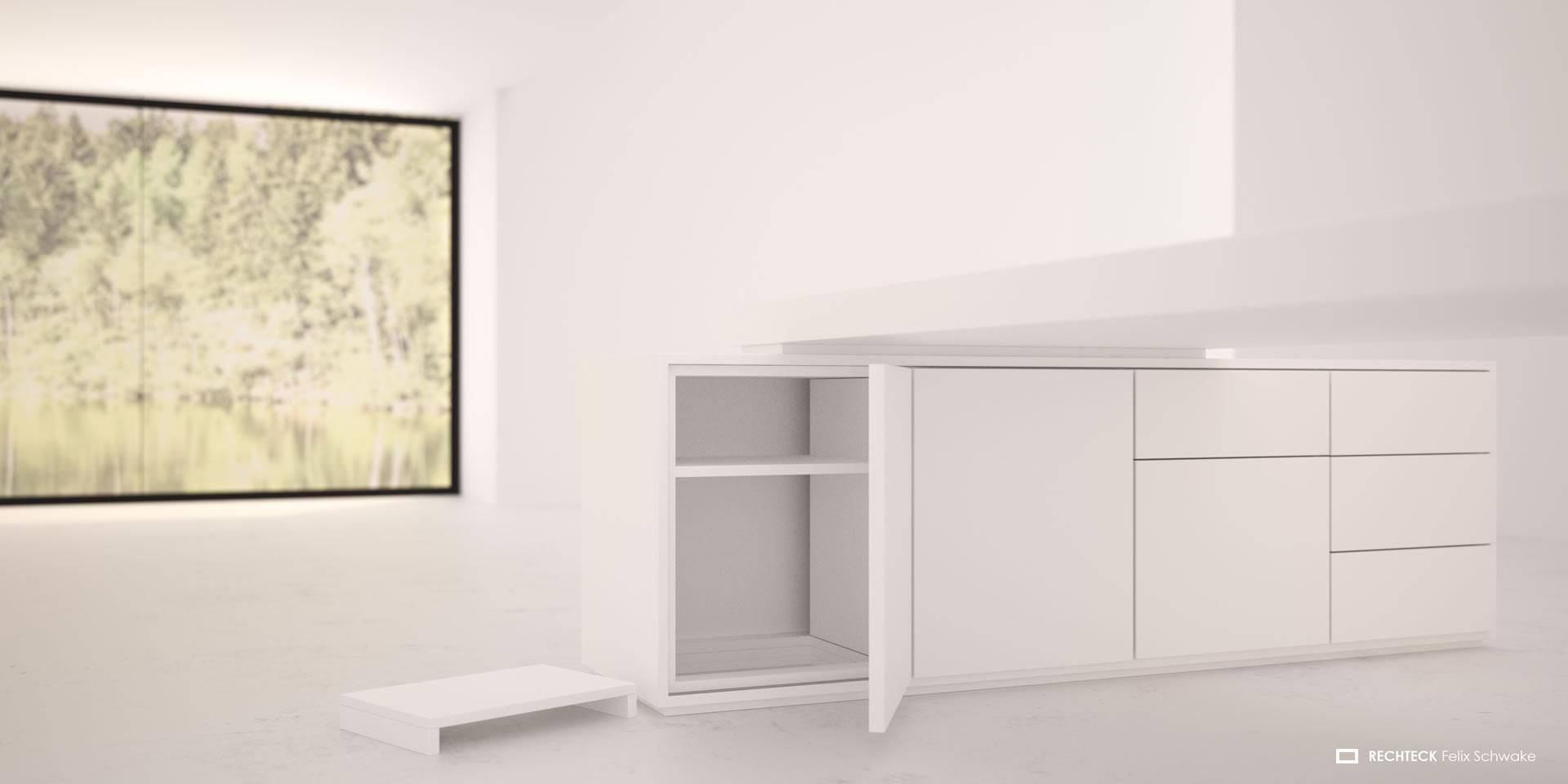 Kommode design büro  Chef-Schreibtisch PRAEFECTUS ▭ weiß hochglanz modern Design-Chef ...