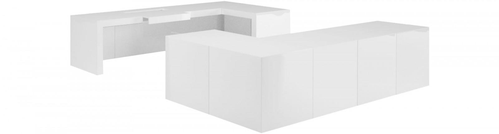 Eckschreibtisch weiß design  SchreibTisch OPPERARIUS kaufen ▭ puristisch Design-Tisch von RECHTECK