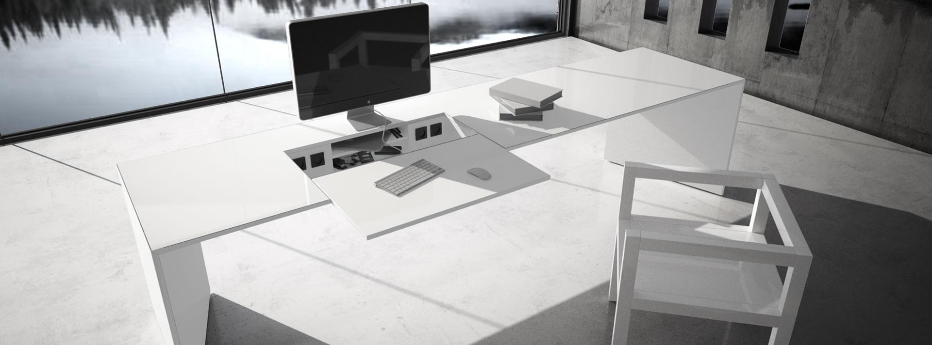 CHEFZIMMER-MÖBEL – weiße Design-Chefmöbel von RECHTECK