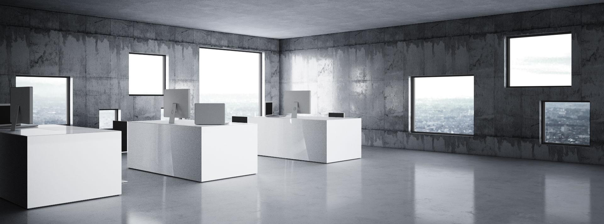 Bueromoebel design  BÜROMÖBEL – weiße Design-Möbel von RECHTECK