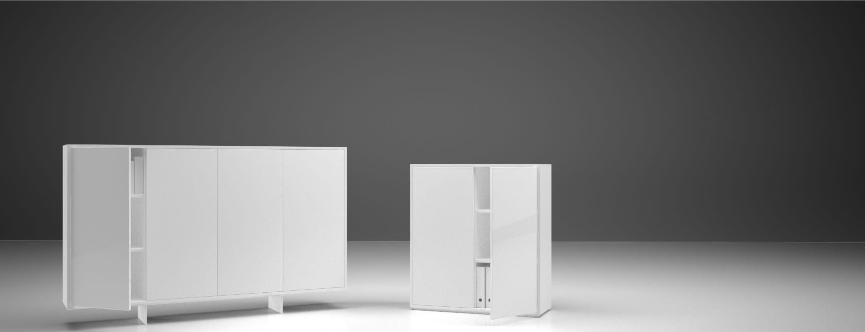 Highboard Auxiliator Elegantes Design Highboard Von Rechteck