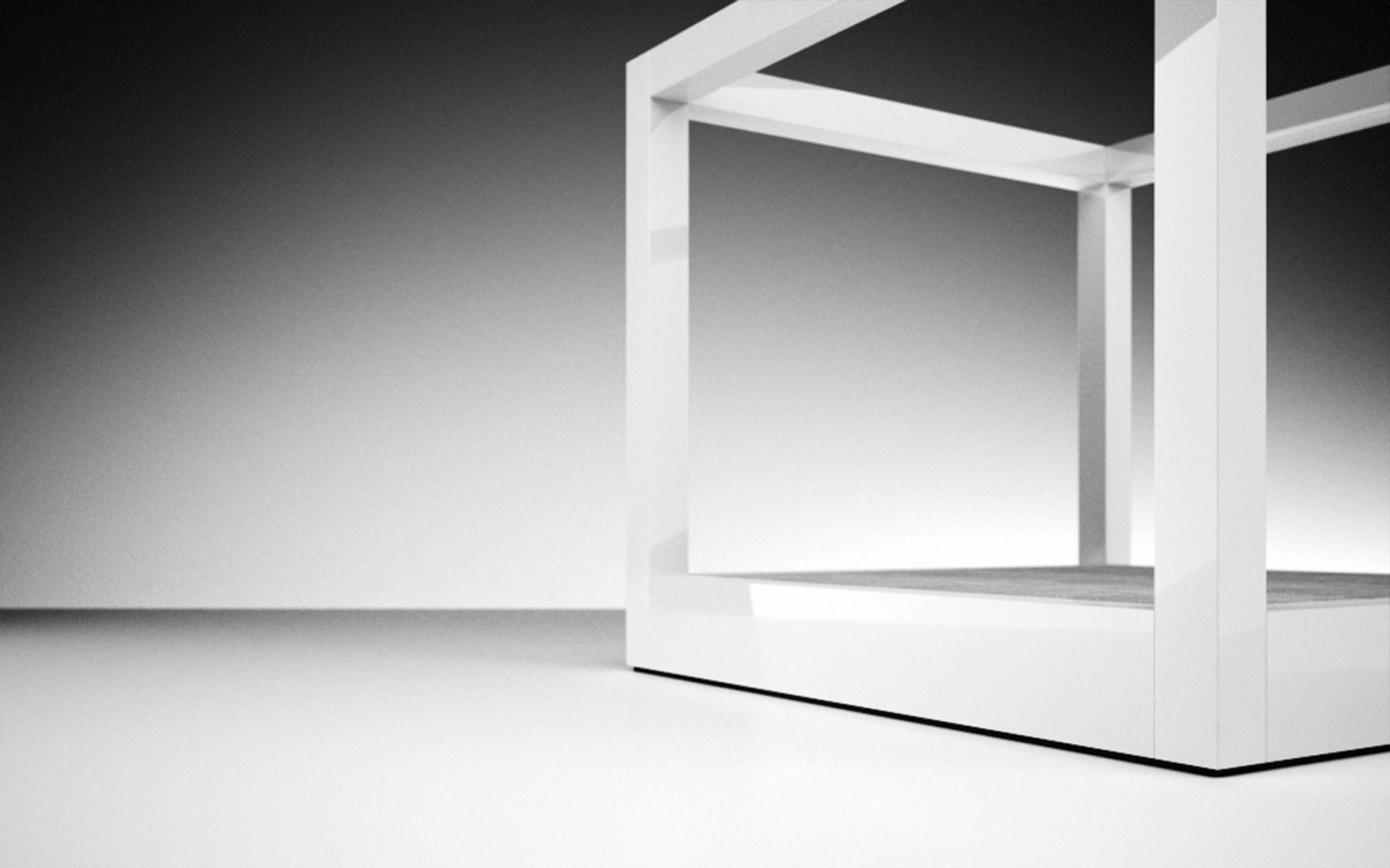 Designer himmelbett  Himmelbett RIDICULUM online ▭ 200x200 Design-Himmelbett von RECHTECK