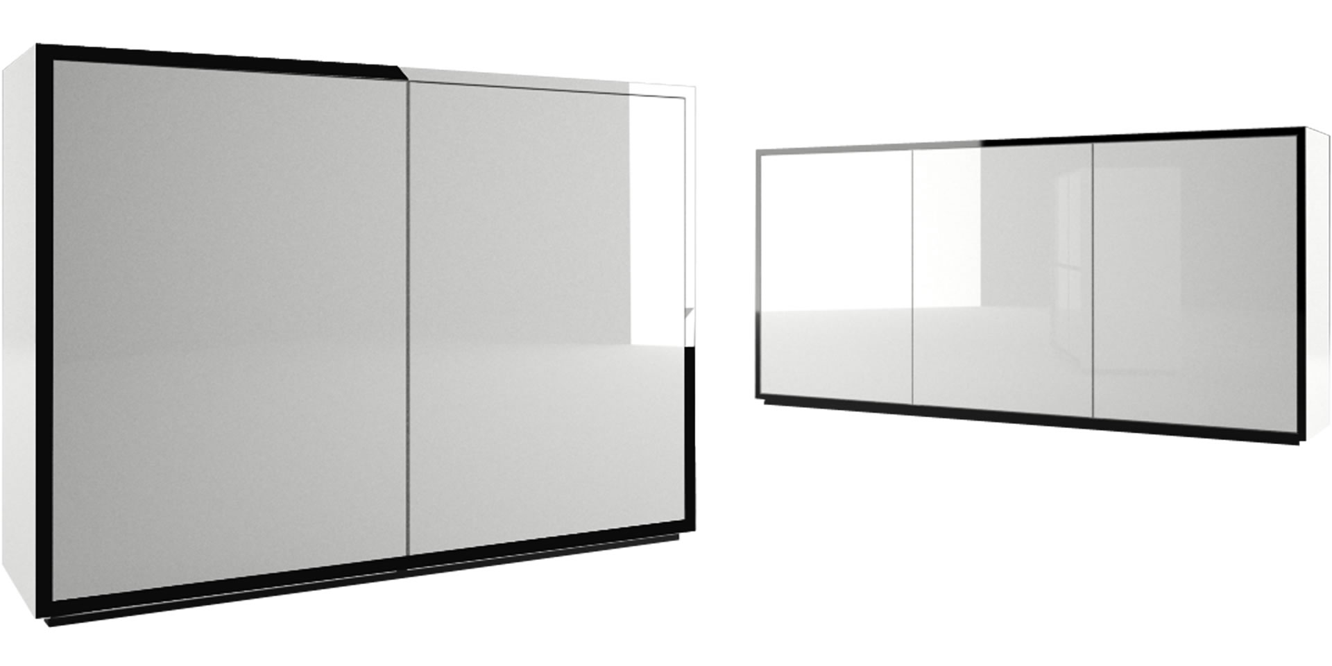 Highboard auxiliator elegantes design highboard von rechteck for Kommode 140 x 100