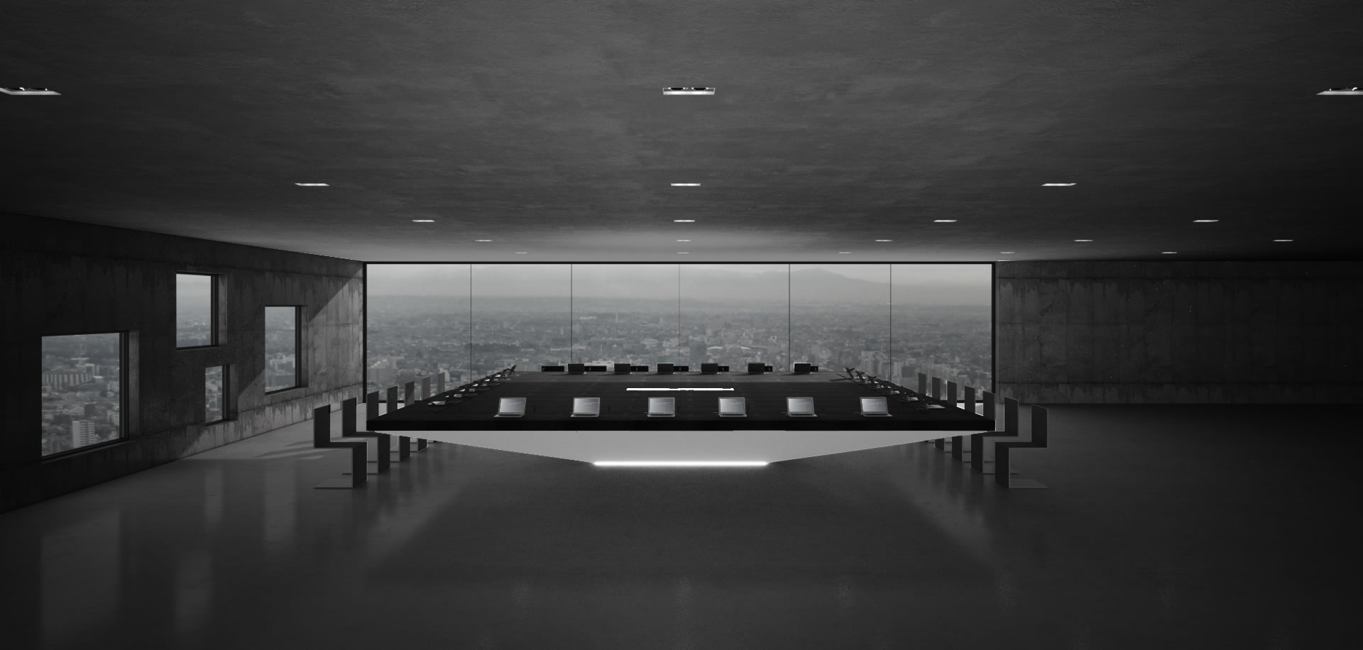 Schreibtisch futuristisch  Konferenztisch MONOLITH bestellen ▭ futuristischer Design ...
