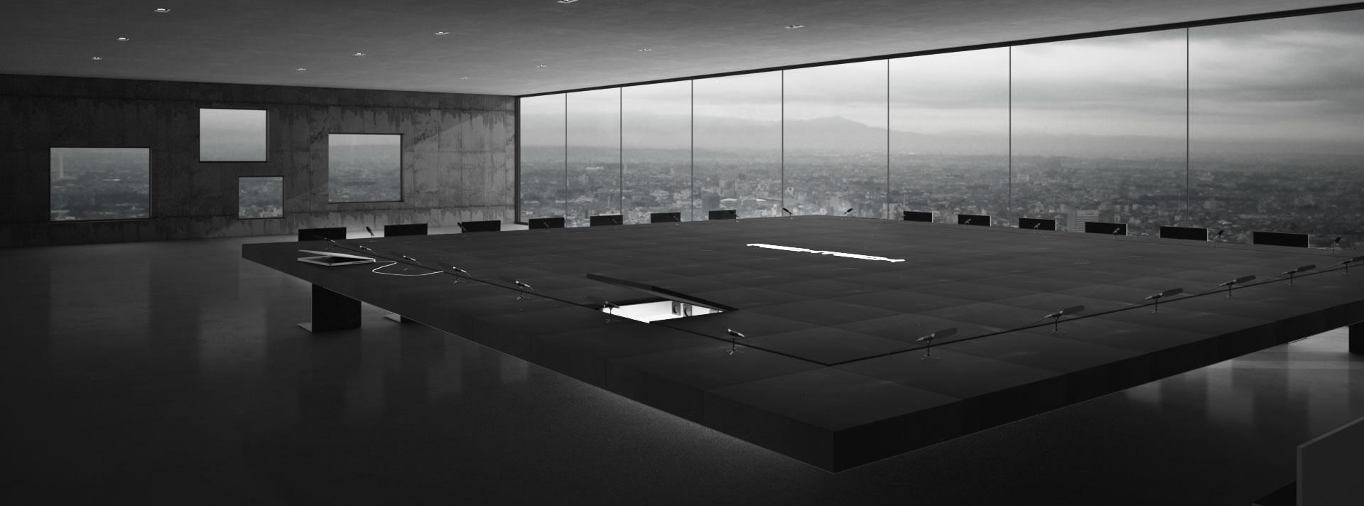 konferenztisch monolith futuristischer design