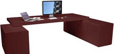 Bauhausstil m bel m bel der moderne von rechteck for Schreibtisch rot lack