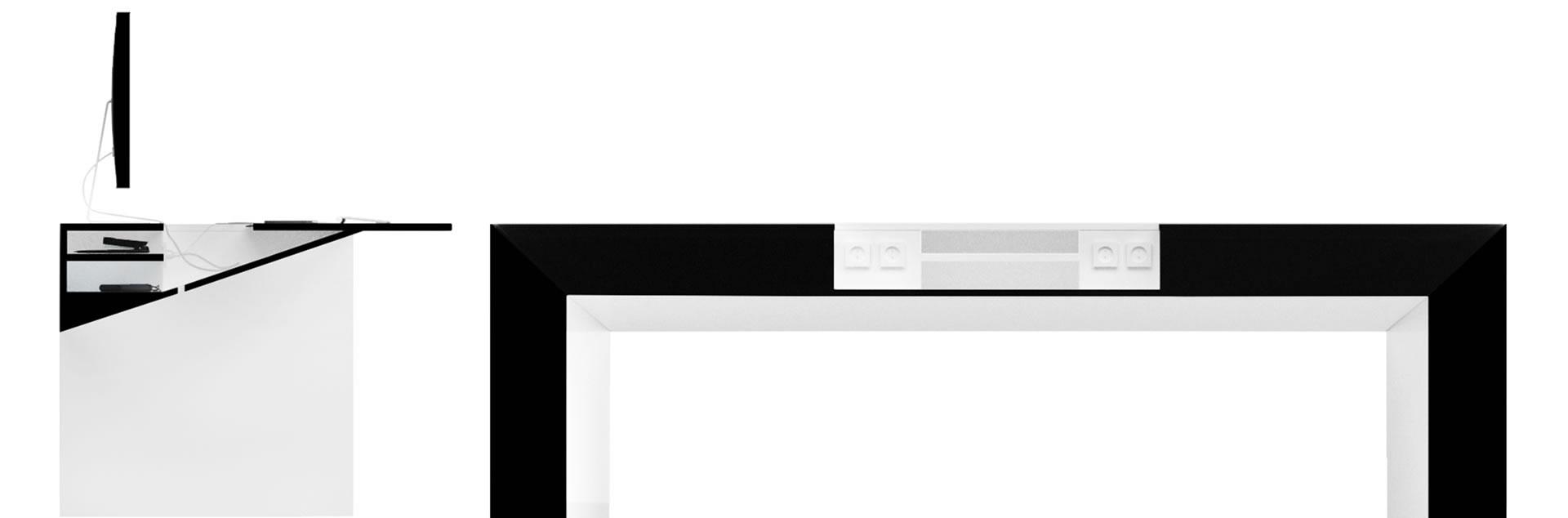 Schreibtisch futuristisch  Schreibtisch COMMENTOR online kaufen ▭ exklusiv Design-Tisch von ...