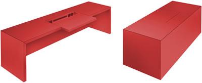 Designer m bel moderne designer m bel von rechteck for Schreibtisch rot lack