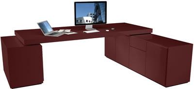 Design schreibtisch moderne hochglanz schreibtisch von for Schreibtisch rot lack