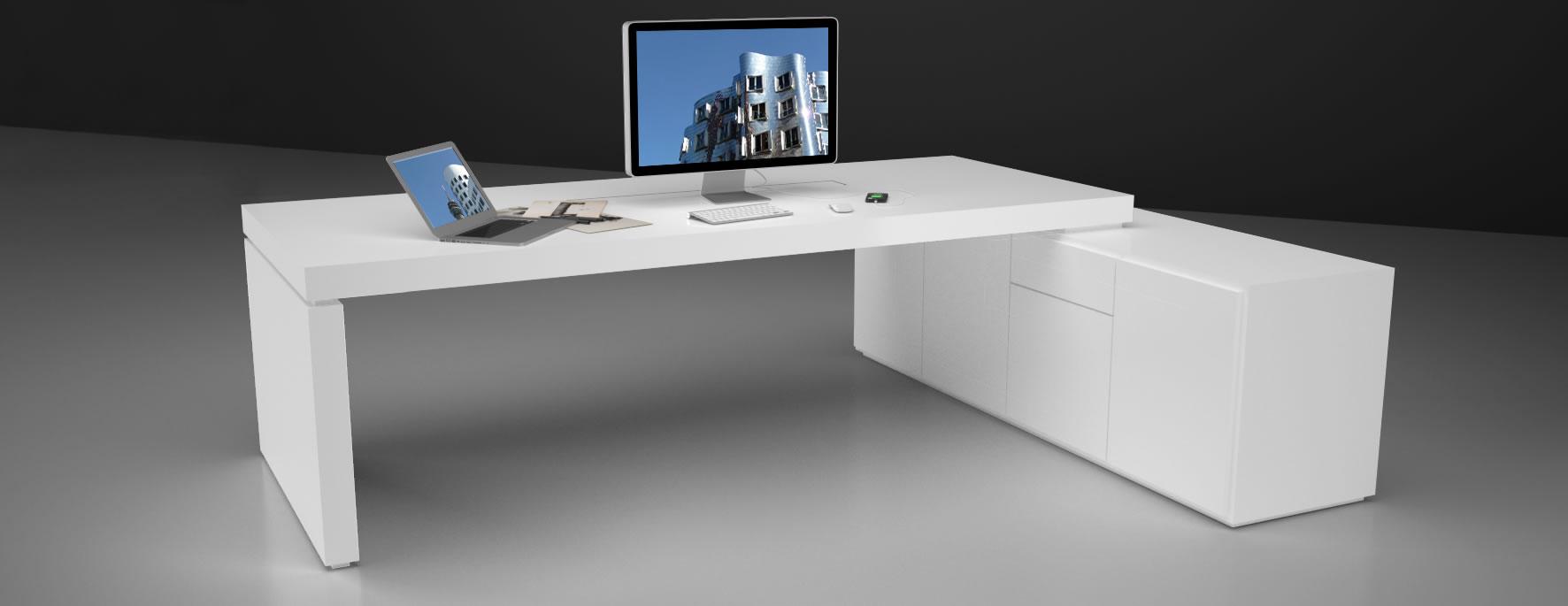 schreibtisch praefectus shop bauhaus design chefzimmertisch von rechteck. Black Bedroom Furniture Sets. Home Design Ideas